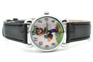 Super Mario LUIGI New Leather Watch Wristwatch QT920