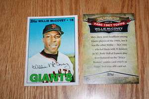 2010 Topps CYMTO CMT 16 Willie McCovey San Fran Giants