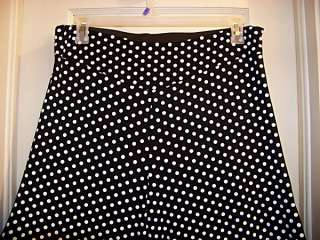 Hot Dog 20/22 2X Polka Dot Black White Palazzo Gaucho Pants Trousers