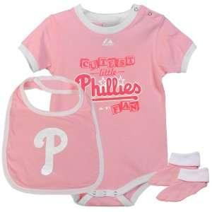Phillies Infant Girls Triple Play Diaper Set   Pink