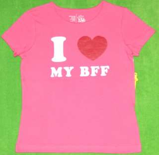 New girl Valentine I love my BFF shirt M7/8 XL14/16