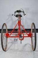 Vintage Ken Rogers Tandem Road Tricycle bicycle Red Bike Modolo Huret
