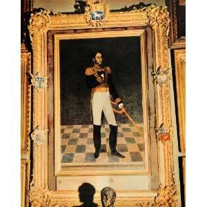 1943 Print Portrait Simon Bolivar Gil Federal Palace Caracas Venezuela