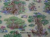 Brown Teddy Bear Picnic Kids Nursery Curtain Valance