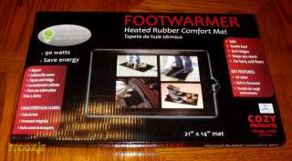 COZY FOOTWARMER ELECTRIC OFFICE SPACE HEATER FOOT WARMER RUBBER MAT