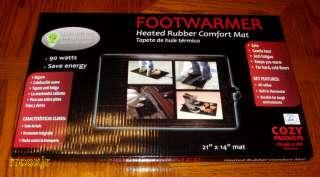 COZY FOOTWARMER ELECTRIC OFFICE SPACE HEATER FOOT WARMER RUBBER MAT