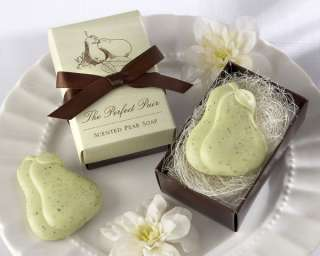 Scented Pear Green Brown Bath Soap Bridal Shower Wedding Favors