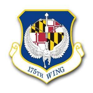 US Air Force 175th Wing Decal Sticker 5.5 Everything