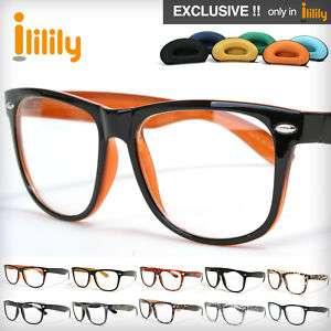 Brand New Black Clear Wayfarer Glasses Frames FREE case