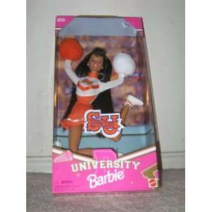 University Barbie   African American Cheerleader Toys & Games