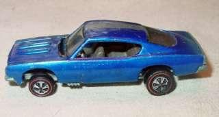 Original HOT WHEELS Redline 1967 CUSTOM BARRACUDA Blue