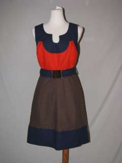New Milly Imara Color Blocked Combo Dress 12