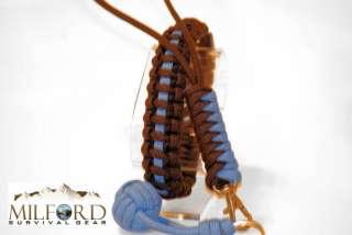 Police Thin Blue Line Paracord Survival Bracelet Kit