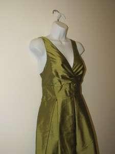 NWT $239 Talbots 16P Green Dupioni Silk Cocktail Dress Size PXL Petite
