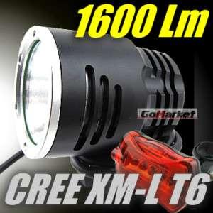 CREE XML XM L T6 1600L LED Bicycle bike Head Light Lamp