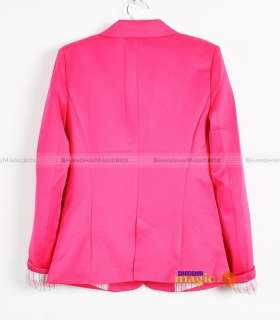 Women Fashion Sweet Candy OL Slim Fit Suit Coat New 007