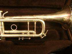 VINCENT BACH Stradivarius Model 43 Silver Bb Trumpet w/ case