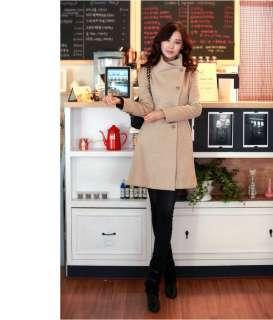 New Black Beige Gary Womens Warm Trench Jacket Coat with Belt Zoom