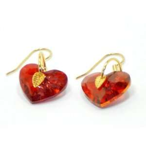 Red Swarovski Crystal Earrings Artistic Creations Maui Jewelry