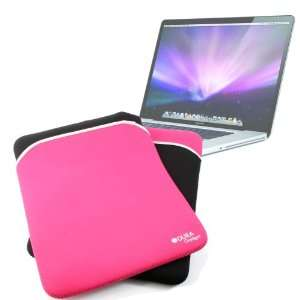 DURAGADGET Water Resistant Reversible Black & Pink Laptop