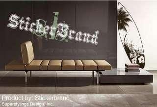 Vinyl Wall Decal Sticker Beach Paradise Surf Board 6Ft