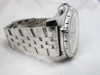 BREITLING BENTLEY 6.75 STAINLESS STEEL ON BRACELET & LEATHER BOX