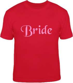 BRIDE wedding hen party marriage basic T Shirt S 6XL