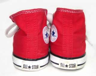Classic Red Baby Toddler Boys Girls Shoes Sneakers 5 High Tops