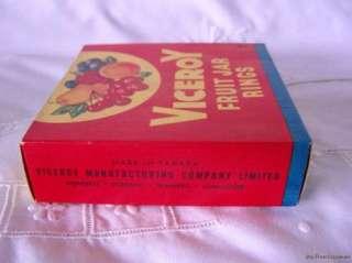 Vtg New Viceroy Rubber Fruit Jar Rings Canning Seals