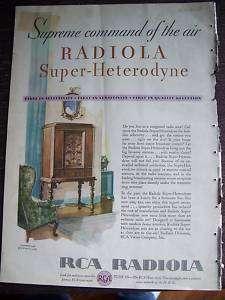 1930 RCA Victor Radiola Super Heterodyne Radio Color Ad