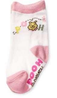 Disney Winnie Pooh baby SOCKS PINK SIZE 00 x 3 pairs