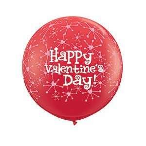 Valentines Day Pink Sparkle 3 Latex Balloon