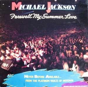 MICHAEL JACKSON farewell my summer love LP m  W/poster