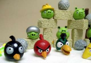 Angry Birds 27 Piece Cake Topper Buildable Game Scene