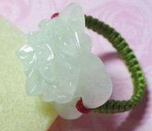Beautiful Burma Jade Delicately Carved Rose Flower Ring  Size 7,8,9