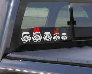 pc Star Wars Stormtroopers Family Car Vinyl Decal Set