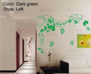 Flower Pastorable Sofa Bedroom Decal Decor Art Room Wall sticker Paper