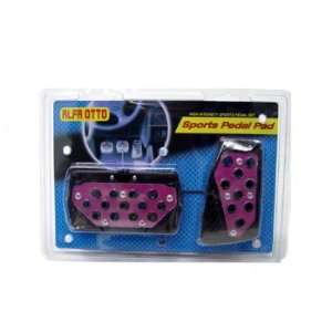 Purple With Black Outer Rim 2pc Automatic Transmission Racing Pedals