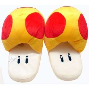Super Mario Brothers  Mushroom Slippers (Yellow+Red