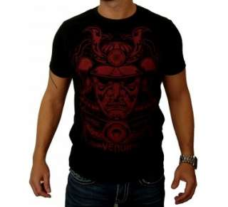 Venum Samurai Mask T Shirt   Black