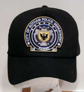 BATMAN Gotham Police Dept Logo Baseball Cap/Hat w Patch
