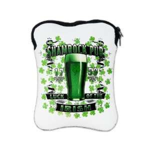 iPad 1 2 Sleeve Case 2 Sided Shamrock Pub Luck of the Irish 1759 St