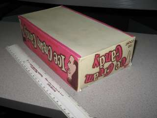 ICE CREAM CANDY 1960s store display box,120 ct,strawberry vanilla milk