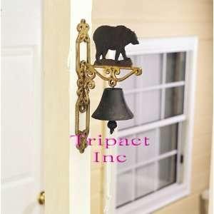 14 Metal Home Décor Bear Cast Iron Bell
