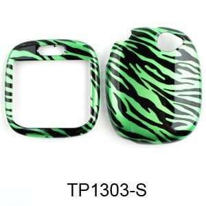 Sharp Kin One Transparent Design, Green Zebra Print Hard Case,Cover