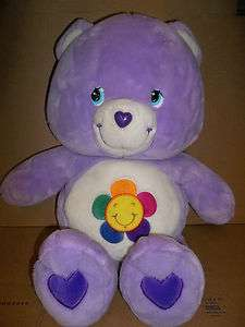 Care Bear Harmony Bear Talking Plush Purple with sun or flower on
