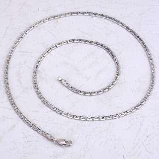 Splendide 9K White Gold Filled Womens Chain Necklace,New 450mm
