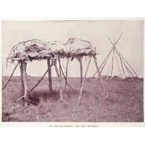1893 Print Prairie Burial Native American Indian Buel