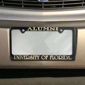Florida Gators Black Alumni Engraved License Plate Frame