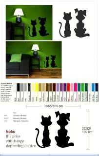 CAT AND DOG Vinyl wall sticker art decal mural picture graphic new do2